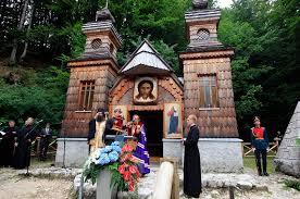 La chapelle russe au col de Vršič en Slovénie