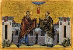 Aujourd'hui: Saints Cosme et Damien