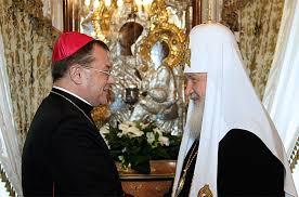 LE CHEF DES CATHOLIQUES RUSSES NOTE UNE AMELIORATION CERTAINE DANS LES RELATIONS AVEC L'EGLISE ORTHODOXE RUSSE