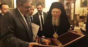 Visite historique du patriarche Bartholomée à l'ambassade russe à Ankara