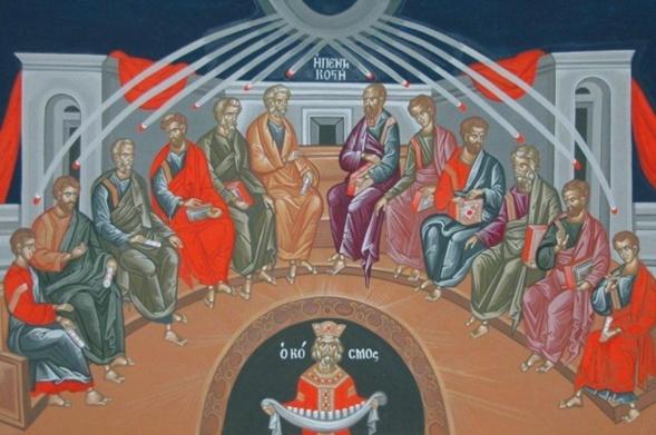 """""""L'Esprit n'est pas seulement là par son action; il nous est uni substantiellement"""", homélie pour la Pentecôte"""