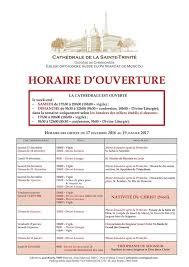 Cathédrale de la Sainte Trinité: Les horaires des offices pour la période pascale jusqu'à la fête de l'Ascension du 25 avril au 28 mai.