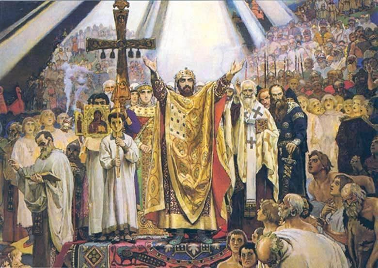 Saint Vladimir le Grand -  Vladimir le BEAU SOLEIL  (980-1015)  et le Baptême de la Russie