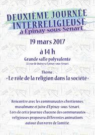 Nouvelle Journée interreligieuse à Épinay-sous-Sénart: le 19 mars, à la grande Salle polyvalente