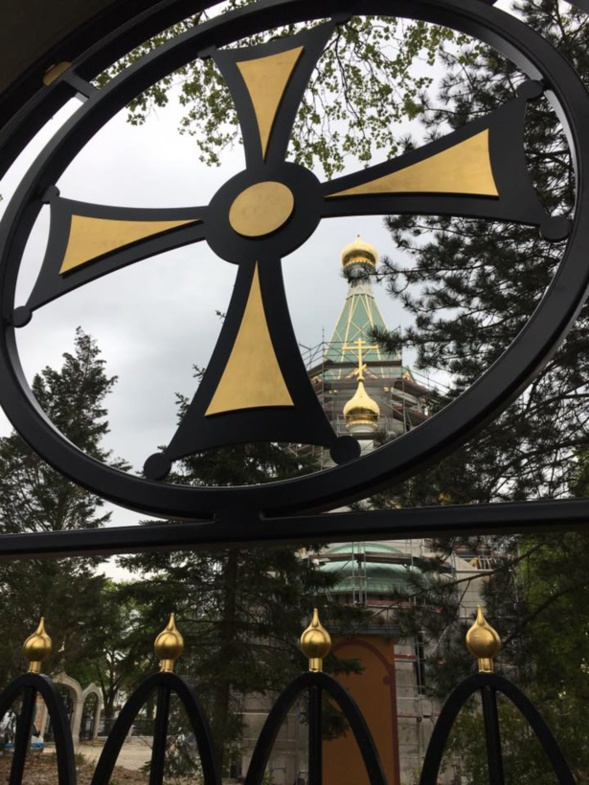 Strasbourg: L'Eglise orthodoxe de Tous les Saints est couronnée de dômes dorés