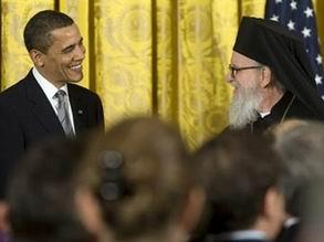 L'archevêque grec en Amérique compare Barack Obama à Alexandre le Grand