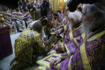 Le patriarche de Moscou rétablit le rite du lavement des pieds le Jeudi Saint