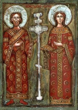 Célébrations orthodoxes  devant les reliques de Ste Hélène