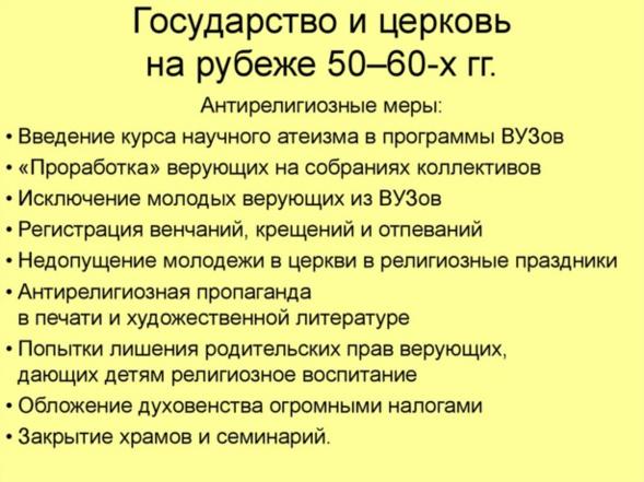 Persécutions de l'Eglise pendant les années Khrouchtchev