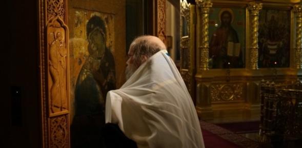Icône - La Mère de Dieu de Vladimir (Владимирская Богоматерь)