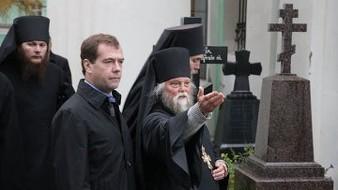 Le président Medvedev s'est rendu au monastère d'Optino