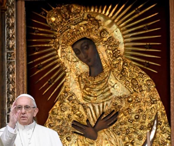 Rencontre fraternelle entre le pape François et le métropolite Innocent
