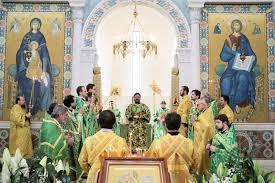 Dimanche des Rameaux: Mgr Jean, métropolite de Chersonèse et d'Europe occidentale, a célébré la Divine Liturgie en la cathédrale de la Sainte Trinité à Paris