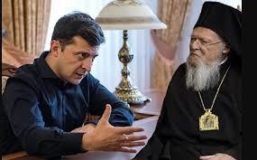 Le président Vladimir Zelensky a refusé de cosigner  avec le patriarche Bartolomé un texte commun