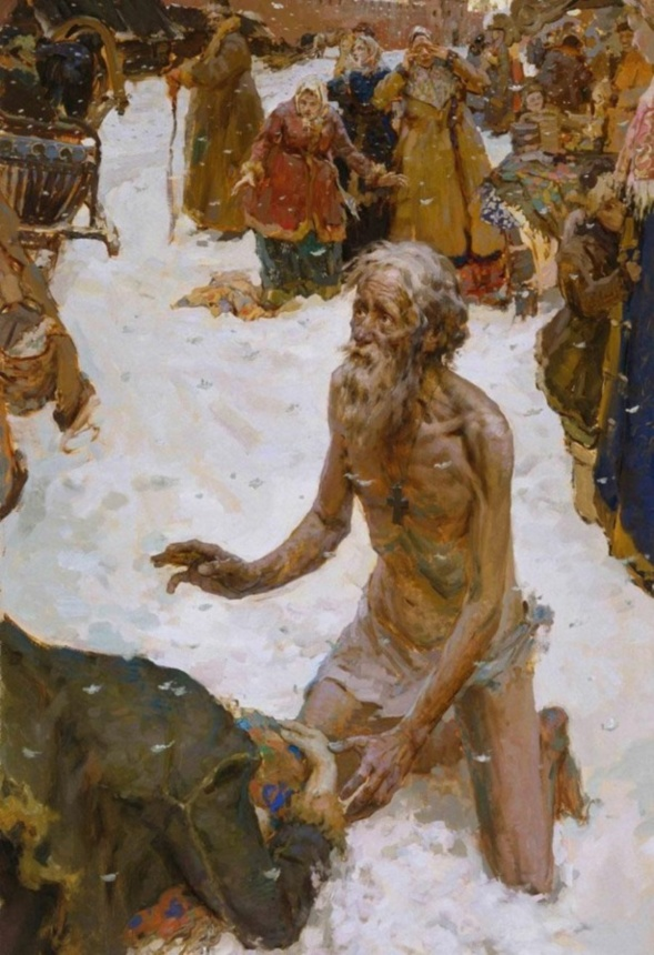 Saint Basile le Bienheureux Fol-en-Christ et Thaumaturge  de Moscou ( XV-XVI siècle)