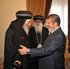 Mohamed Morsi rencontre la communauté copte orthodoxe egyptienne