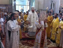 Une liturgie solennelle  célébrée dans l'église des Saints Nouveaux Martyrs et Confesseurs à Porto