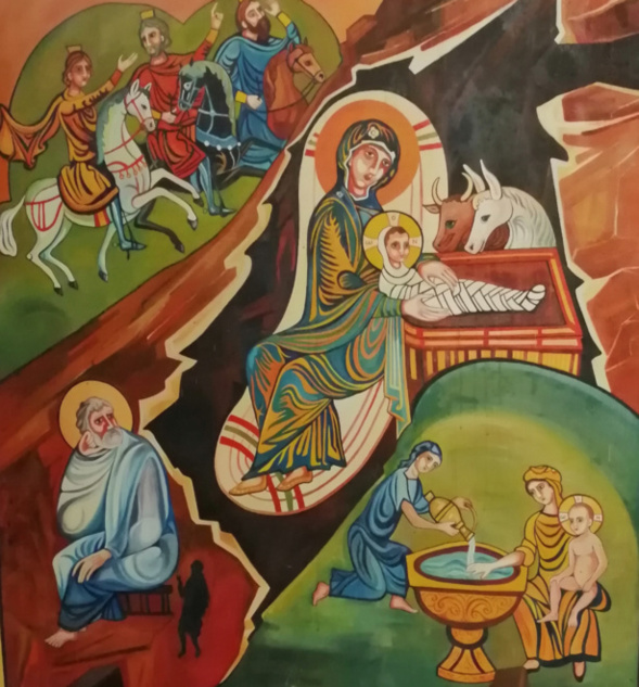 Liturgie célébrée le 5 mars à Cambo par le père Nicolas Rehbinder
