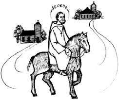Un prêtre avec ses paroissiens font un pèlerinage dans un ancien temple britannique