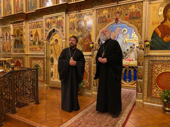Mgr Hilarion de Volokolamsk a visité à Washington la cathédrale Saint-Jean-Baptiste de l'Église russe hors-frontières