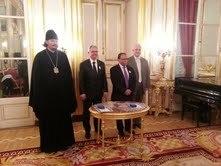 L'avocat Alain Confino et le juriste Laï Kamara décorés de l'Ordre de Saint Daniel de Moscou
