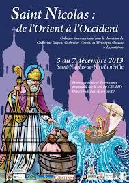 "Colloque international ""Entre Orient et Occident : le culte de Saint Nicolas en Europe (Xe - XXIe siècles)"""