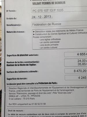 Annonce récemment  apposée sur le portique des bâtiments de Météo France