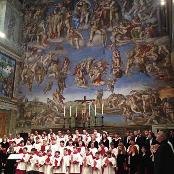 Un concert du Chœur synodal de Moscou et de la Chorale de la Chapelle Sixtine a eu lieu le 1 juillet au Vatican