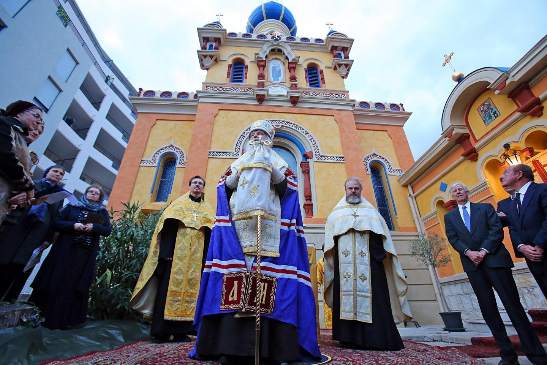 Après travaux l'église orthodoxe russe de Menton (EORHF) a été consacrée