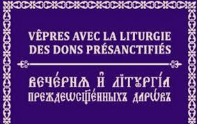 Nouvelle parution: Vêpres avec la Liturgie des Dons présanctifiés en version bilingue (français-slavon)