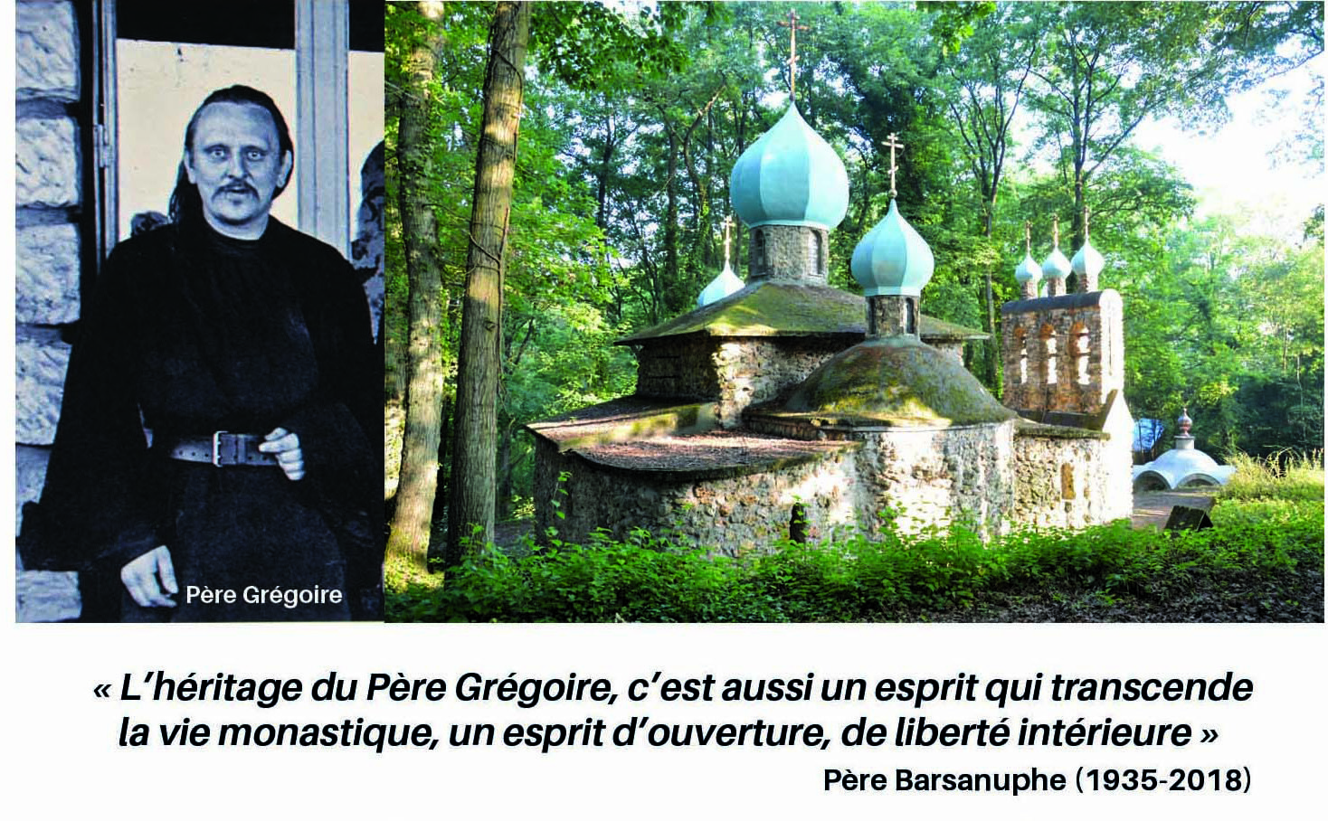 """Bande-Annonce """"Dans la paix de Père Grégoire avec le Père Archimandrite Barsanuphe"""""""