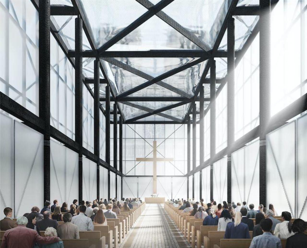 Paris : voici le premier projet de cathédrale éphémère devant Notre-Dame