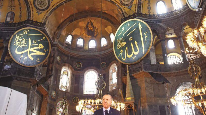"""La France veut que Sainte-Sophie à Istanbul reste """"ouvert à tous""""! Erdogan rejette les critiques sur le projet du musée Sainte-Sophie à Istanbul"""