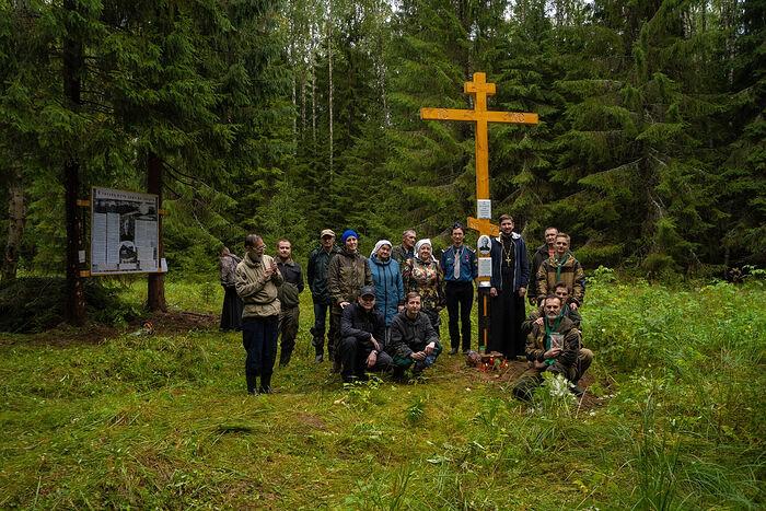 Sur le site du camp Vozhegodsky, un Crucifix a été installé