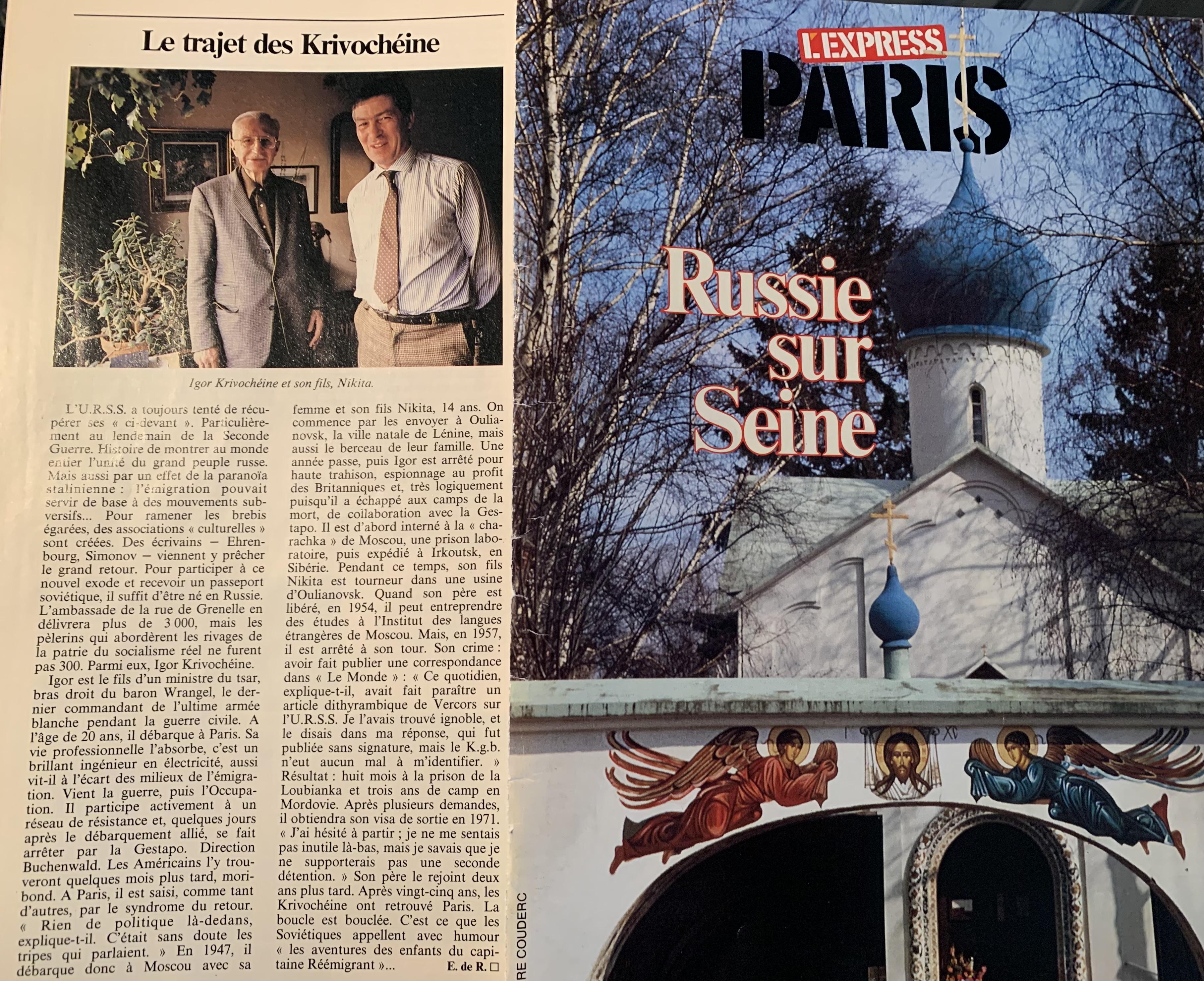 """Nikita Krivochéine """" Des miradors à la liberté : Un Français-Russe toujours en résistance """""""