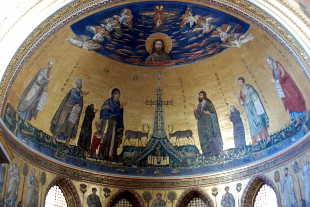 la Croix reposant sur la Jérusalem Céleste