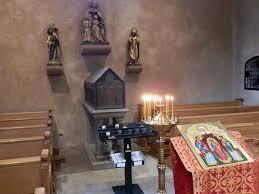 A Eschau, Alsace, commémoration des Saintes Foi, Espérance, Charité et de leur mère Sophie