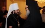 Le président du département des relations extérieures de l'Eglise russe, le métropolite Hilarion rend visite à Sa Béatitude Jean X d'Antioche à BALАМAND