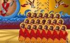 Martyrs coptes en Libye, priez pour nous ! La 1ère icône des 21 martyrs coptes de Libye