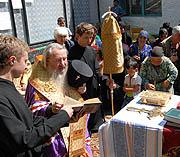 Un archevêque russe a visité le camp des réfugiés d'Ossétie du Sud
