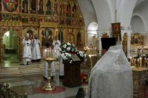 Office des défunts à la cathédrale Christ-Sauveur de Moscou pour les victimes de la guerre en Ossétie du Sud