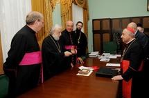 L'archevêque de Milan reçu à l'académie de théologie de Moscou
