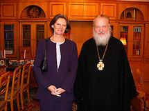 Le métropolite Cyrille a reçu l'ambassadeur du Royaume-Uni en Russie