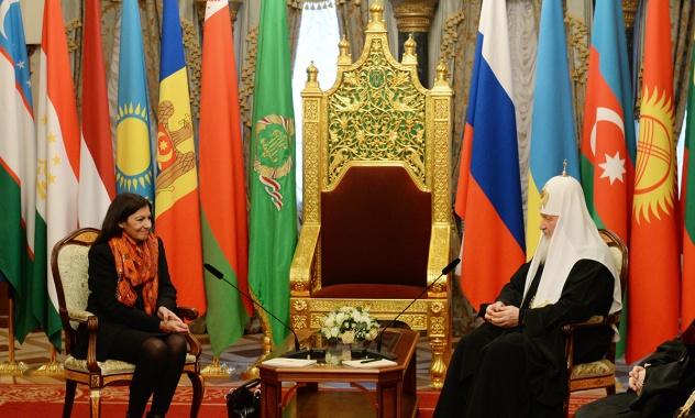 La rencontre du Patriarche Cyrille avec le maire de Paris Anne Hidalgo