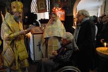 Mgr Innocent a célébré une liturgie à la Maison russe de Sainte-Geneviève-des-Bois