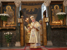 Pèlerinage du métropolite Vladimir de Kiev à Milan et à Rome
