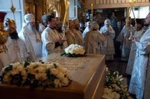 Liturgie auprès de la sépulture du patriarche Alexis quarante jours après son décès