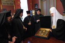 Le patriarche Cyrille a reçu les délégations des Eglises qui ont participé à son intronisation