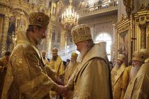 Le métropolite de Prague en visite au patriarcat de Moscou