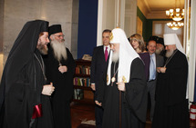 Le patriarche Cyrille s'est rendu à l'ambassade de Grèce à l'occasion du dimanche de l'orthodoxie